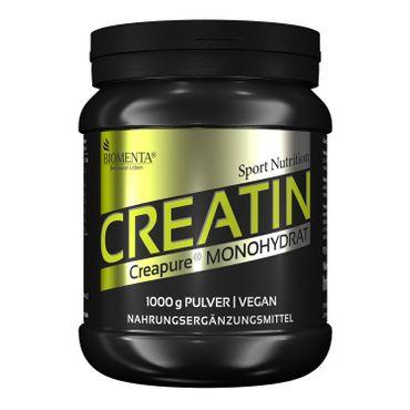 BIOMENTA® Creatin Monohydrat (Creapure®) – 1.000 g Pulver – vegan