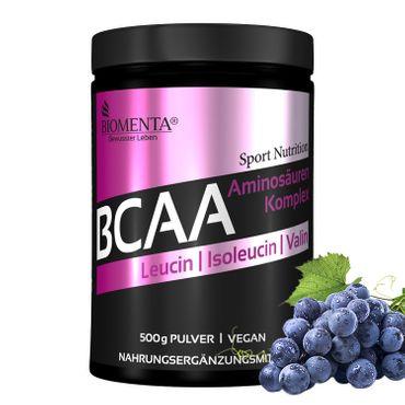 BIOMENTA® BCAA Aminosäuren Komplex – 500 g Pulver – vegan