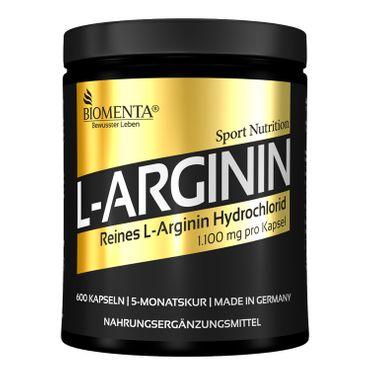 BIOMENTA® L-Arginin Gold – 600 Kapseln – 5 Monatskur